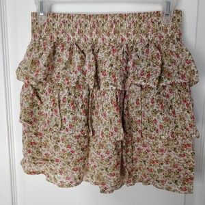 Costa Blanca Mini Layered Floral Skirt
